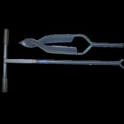 Grondboor 16 cm. met gedraaide punt, verlengbaar