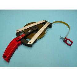 BMI Isolan stalen meetband met polymide mantel, lengte 30 meter met haak en ring