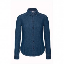 Dames overhemd Denim