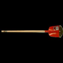 Schepbats Ruhr Brillant 3/4 00, gehard, Rood gelakt met ATLAS batsesteel 130 cm. gebogen