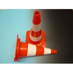 Pilon 50 cm oranje / wit