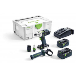 Festool accu-klopboormachine PDC QUADRIVE 18/4 Li 5.2 – Plus