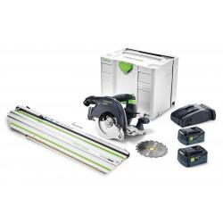 Festool accu-pendelkapzaag HKC 55 Li 5.2 EB – Set – FSK 420