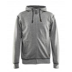 Hooded sweatshirt met rits