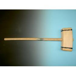 Sleg, rechthoek model, met steel 100 cm rond 38 mm.