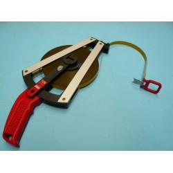BMI Isolan stalen meetband met polymide mantel, lengte 50 meter met haak en ring