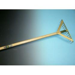Asfalthark met 14 tanden, versterkt, 41 cm breed met essen steel 170 x 3,4cm. recht.