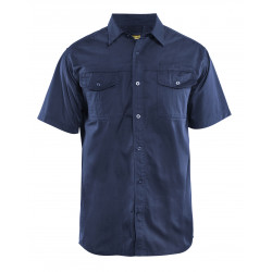 Overhemd Twill korte mouw