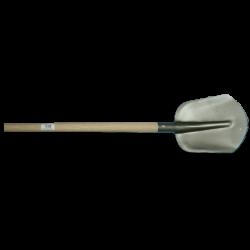 Steekbats 1/4 000, grijs gelakt met essen PE schopsteel 100 cm. ongewaxt