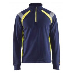 Sweatshirt halve rits Visible