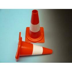 Pilon 32 cm oranje / wit