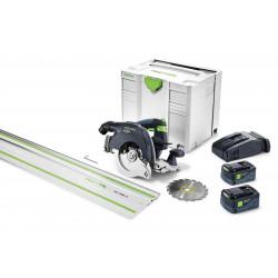 Festool accu-pendelkapzaag HKC 55 Li 5.2 EB – Set – FS